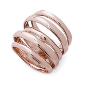 ALEXIS BITTAR • Rose Gold Sculptural Layered Ring